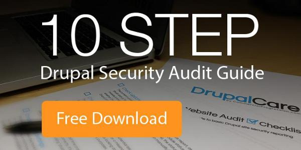 Free Download, 10 Step Drupal Security Audit Guide