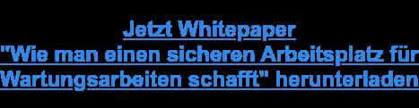 """Jetzt Whitepaper """"Wie man einen sicheren Arbeitsplatz für Wartungsarbeiten schafft"""" herunterladen"""