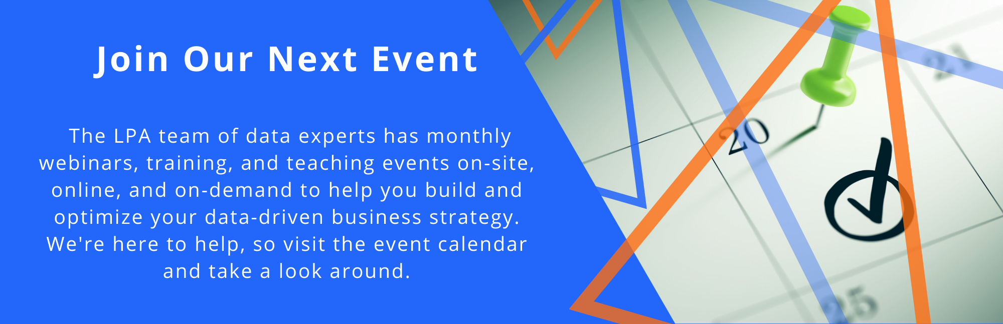 lPA Data Analytics Event Calendar