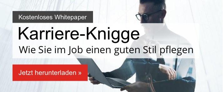 Kostenloses Whitepaper: Karriere-Knigge