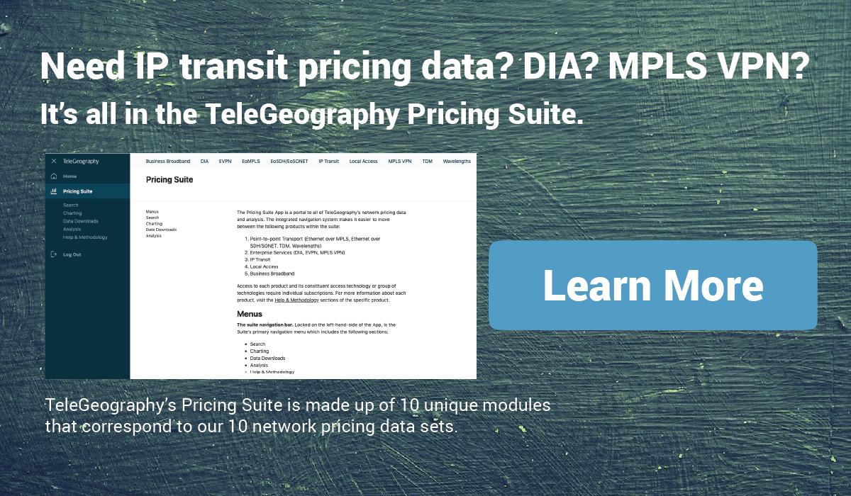IP Transit Pricing Data