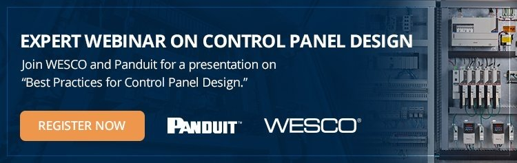 "Join WESCO and Panduit for a presentation on ""Best Practices for Control Panel Design."""