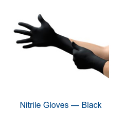 Nitrile Gloves — Black