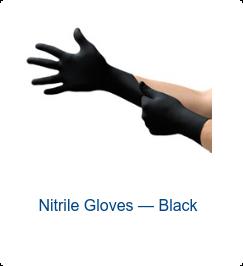Nitrile Gloves — Black
