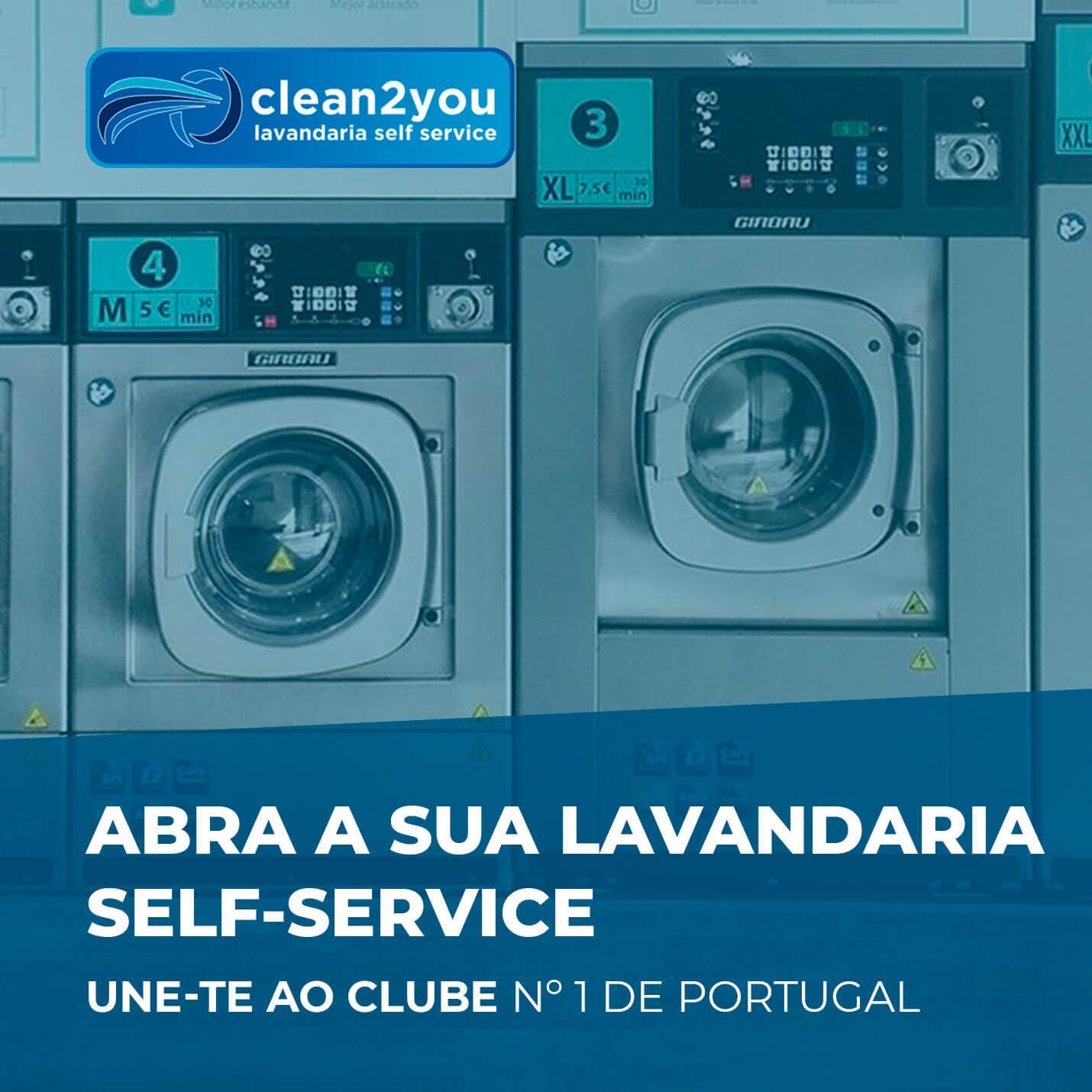 Abra a sua lavandaria self-sevice