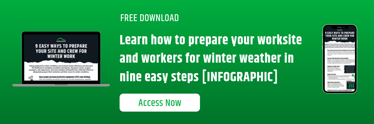 Learn how to prepare your site and crew for winter weather