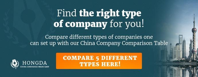 China company comparison table CTA