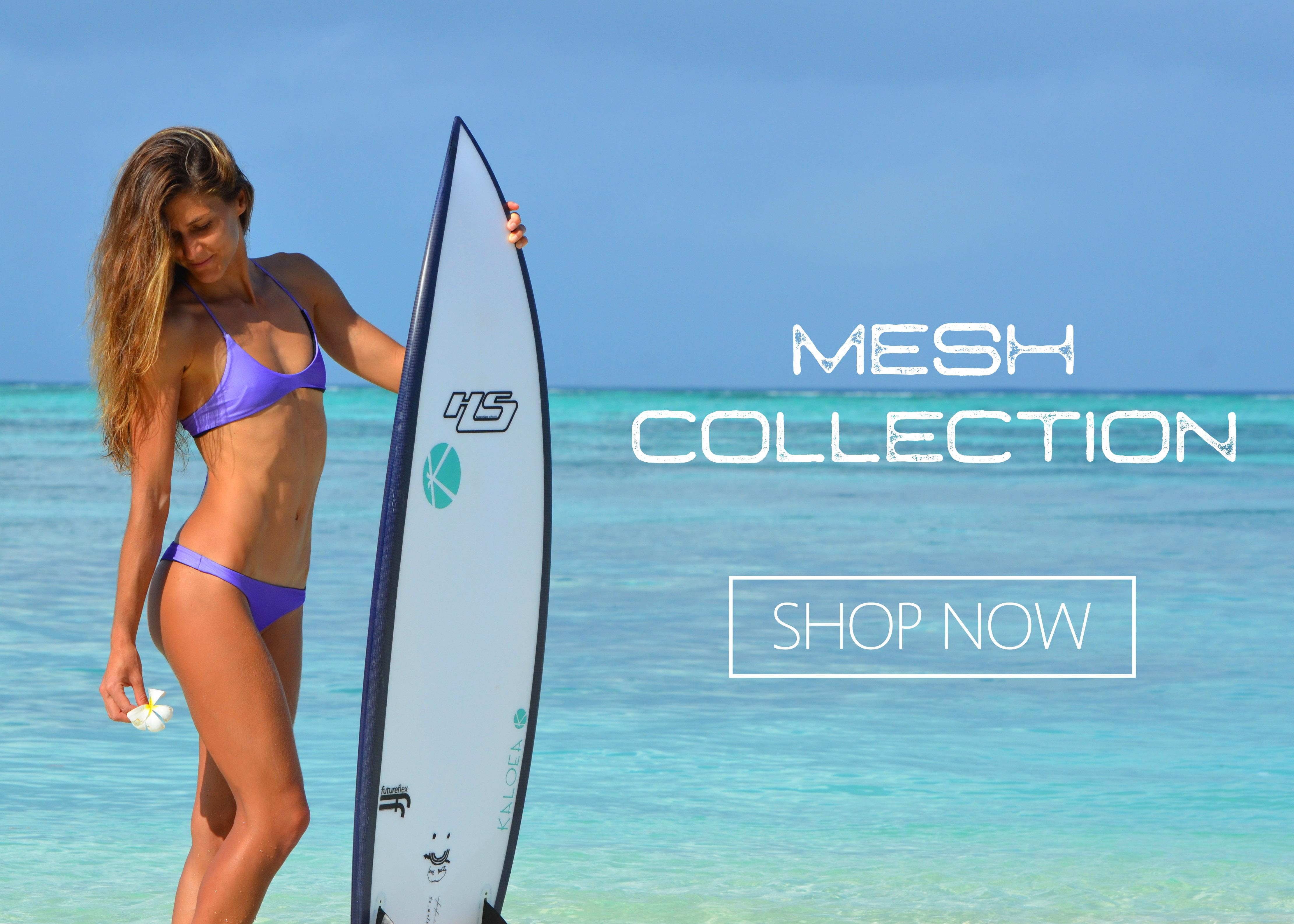 Kaloea Surf Bikini Mesh Collection Shop Now