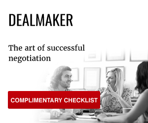 Dealmaker: The art of successful negotiation - get your free checklist