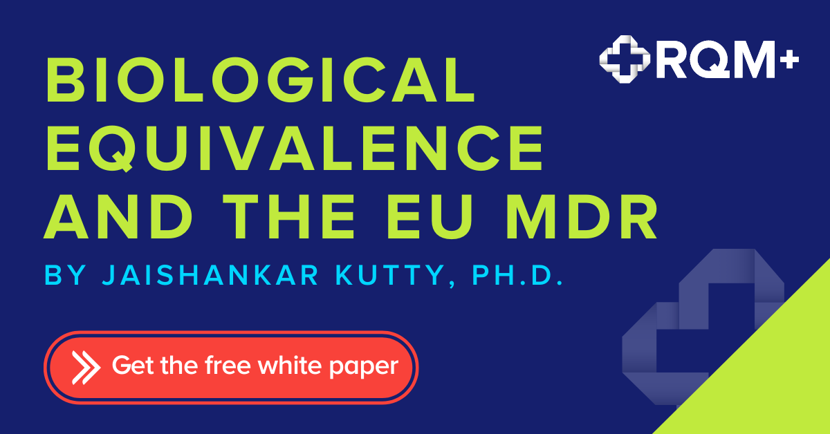 Button to download the RQM+ Biological Equivalence and the EU MDR whitepaper by Dr. Jai Kutty
