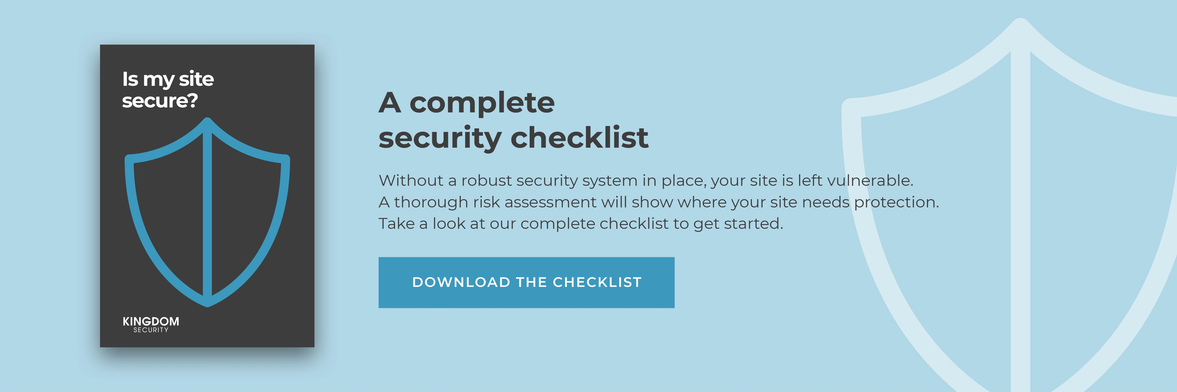 A complete security checklist