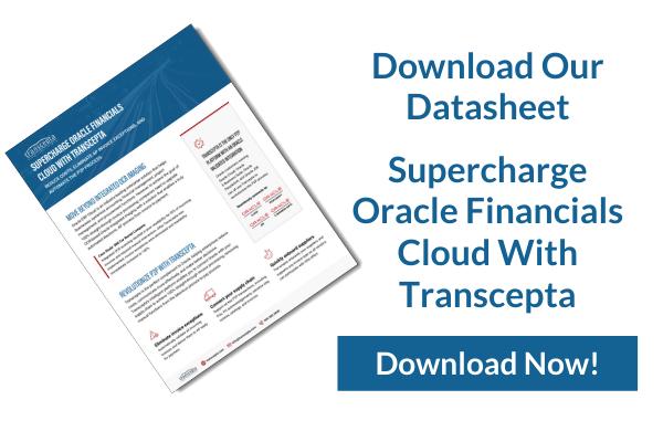 Transcepta Oracle Financials Cloud With Transcepta Datasheet