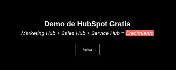 Demo de HubSpot Gratis