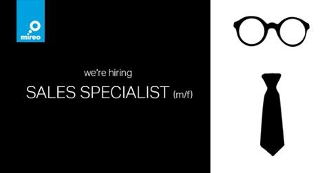 We're hiring sales specialist.