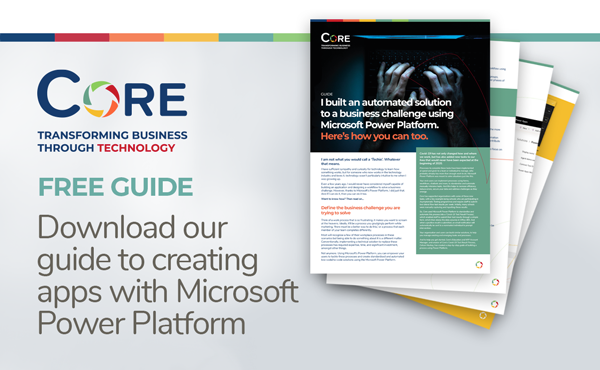 Download our guide to creating apps with Microsoft Power Platform