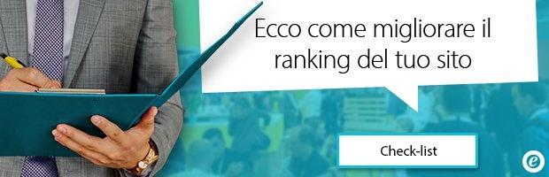 migliorare ranking SEO