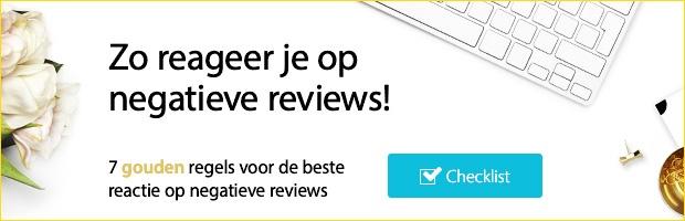 Gratis download checklist - reageren op negatieve reviews