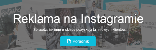 reklama sklepu na instagramie