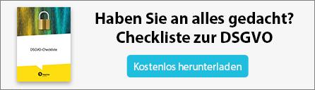 DSGVO-Checkliste