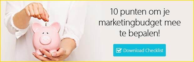 Gratis checklist - Bepaal je marketing budget