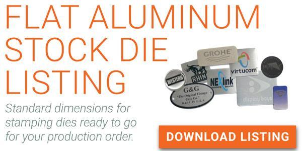 aluminum stock dies, flat blank stock hits