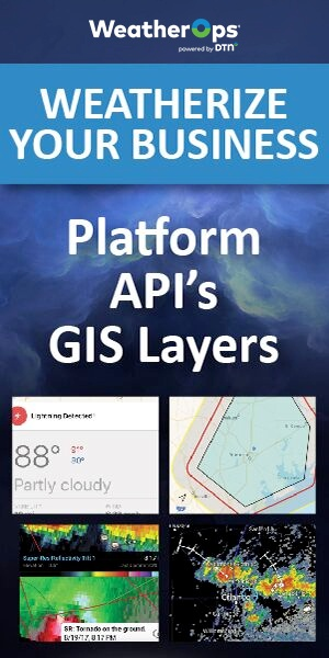 Weatherize your business with WeatherOps Platform, APIs and GIS Layers