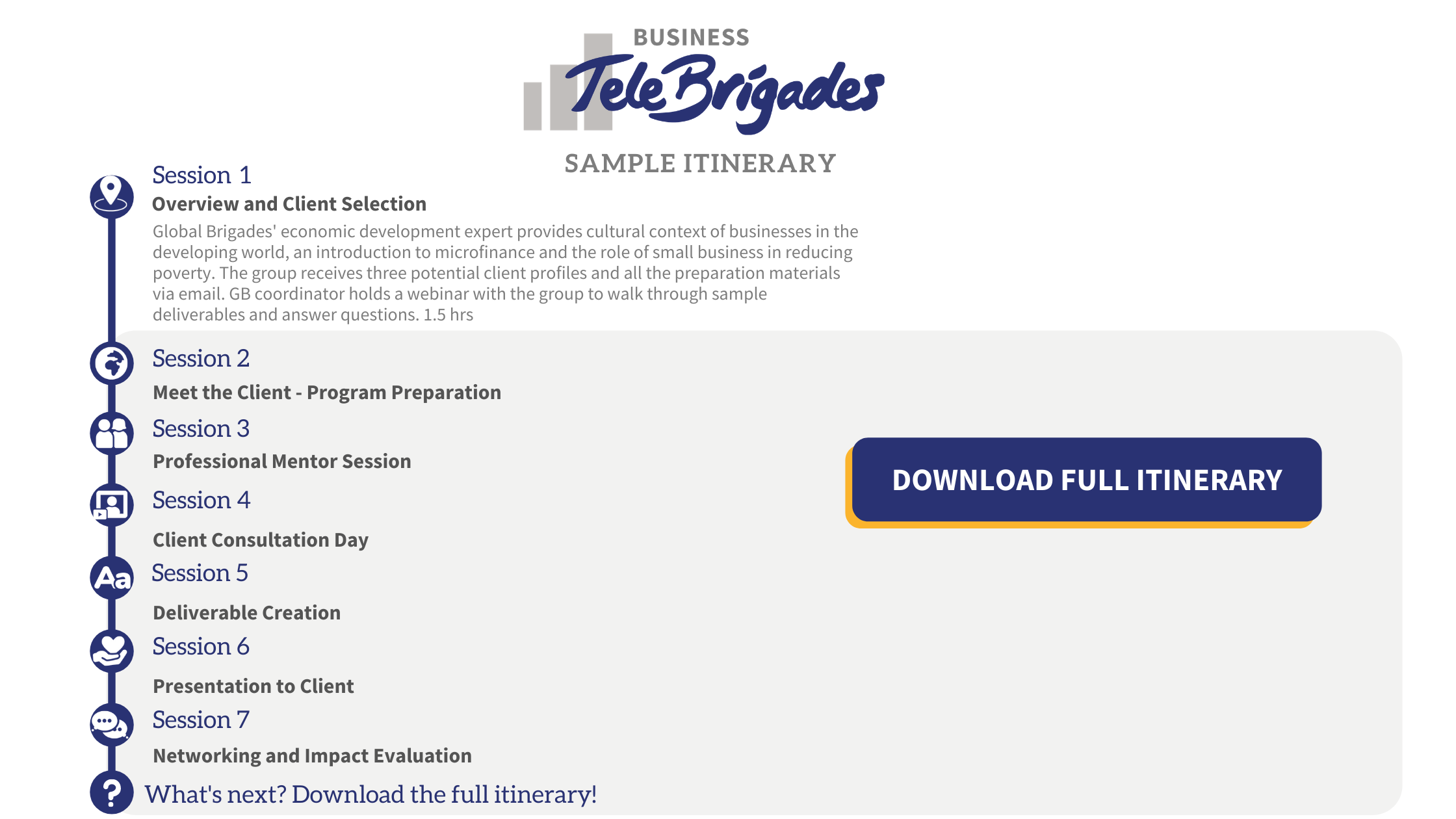 Business TeleBrigades Itinerary Download