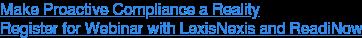 Webinar: Proactive Compliance Management with LexisNexis