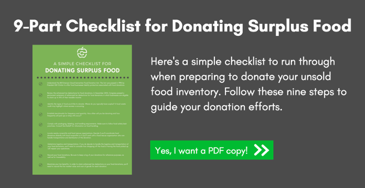 9-Part Checklist for Donating Surplus Food
