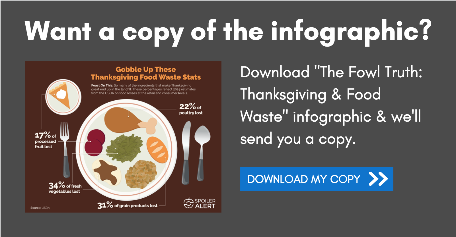 Download Our Thanksgiving & Food Waste Infographic
