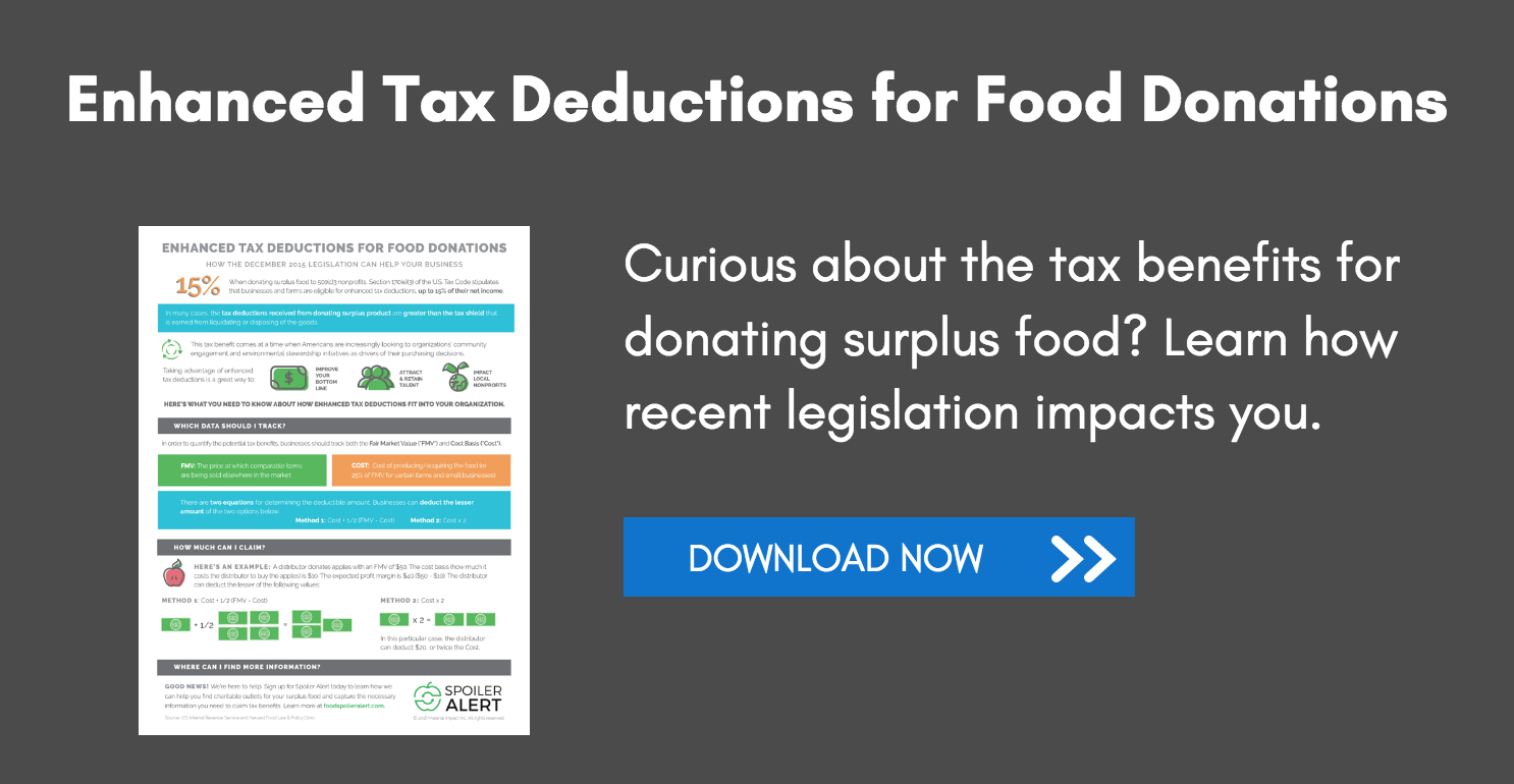 Enhanced Tax Deductions for Food Donations Infographic