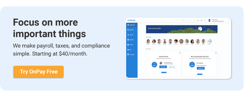 Payroll call-to-action