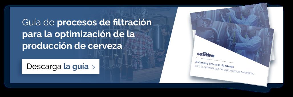 Guía de procesos de filtración en la producción de cerveza