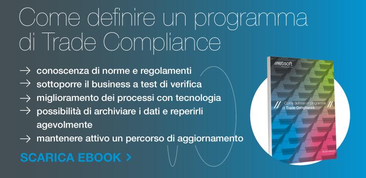 definire programma di trade compliance