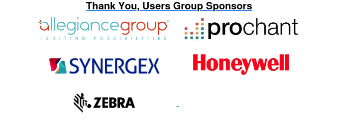 Thank You, Users Group Sponsors
