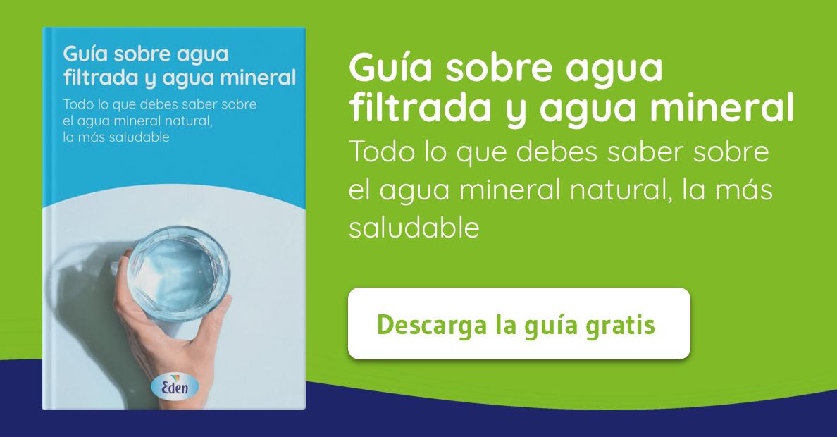 Descarga la guía sobre agua filtrada y agua mineral