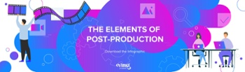 The elements of post-production infographic