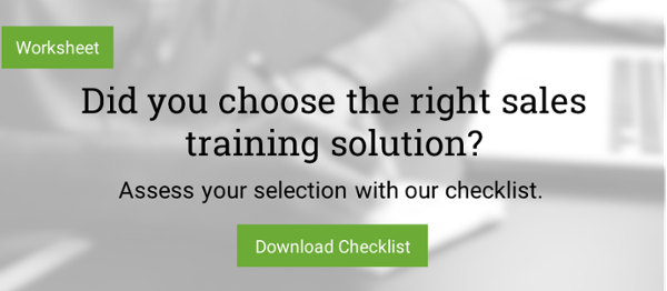 Download the Sales Training Solution Checklist