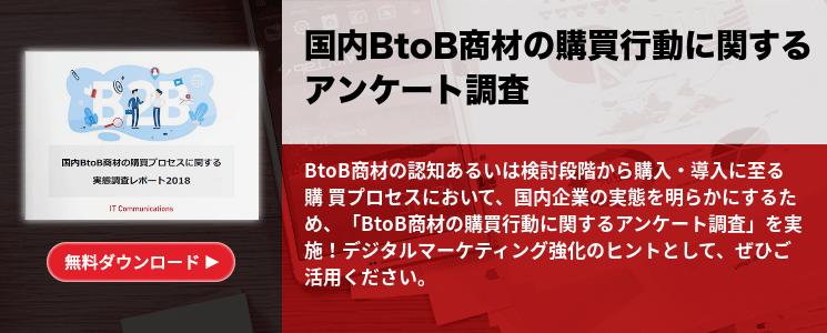 国内BtoB商材の購買行動に関するアンケート調査