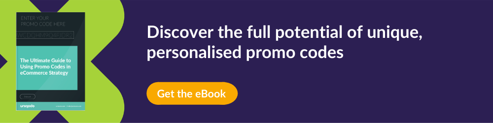 CTA for promo code eBook on personalising promo codes