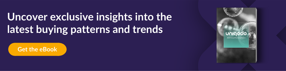 CTA for annual report eBook to see latest buying patterns and trends