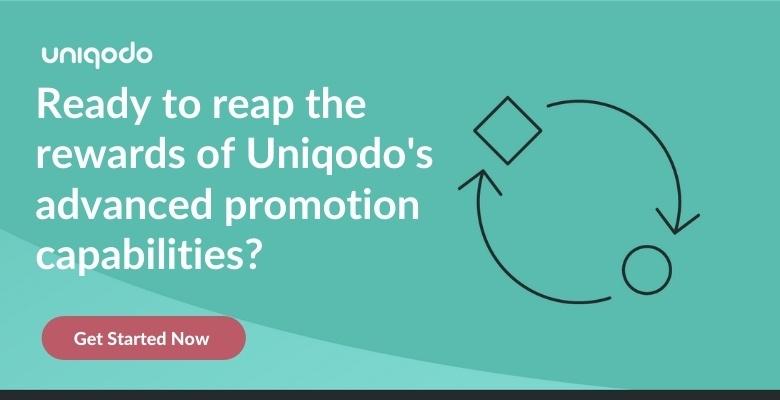 Uniqodo promotion engine CTA