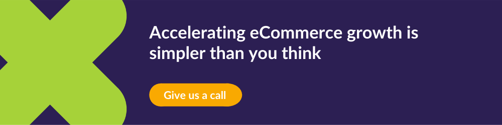 CTA promoting a call that incites eCommerce growth
