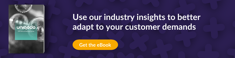 CTA for Annual report eBook on how to adapt to customer demands