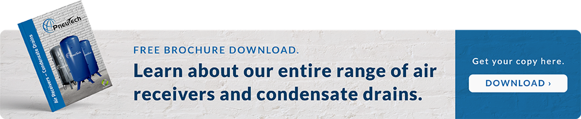 Free brochure download. Learn about our range of air receivers and condensate drains.