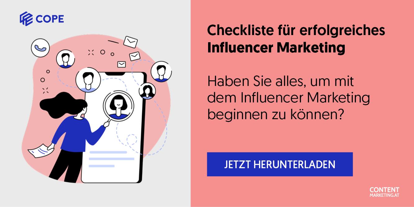 Hier laden Sie die Influencer-Marketing-Checkliste herunter.