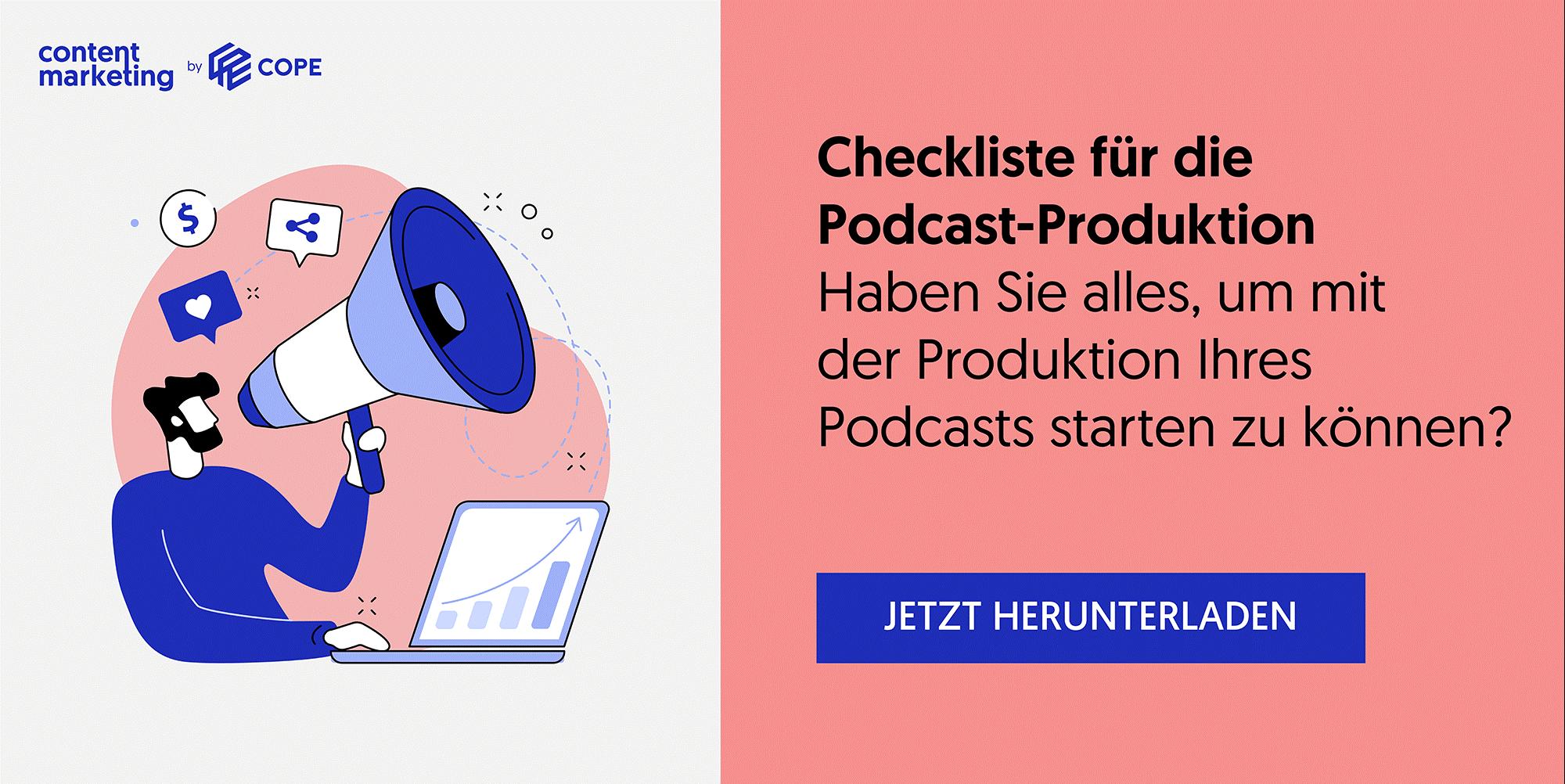 Checkliste für die Podcast-Produktion