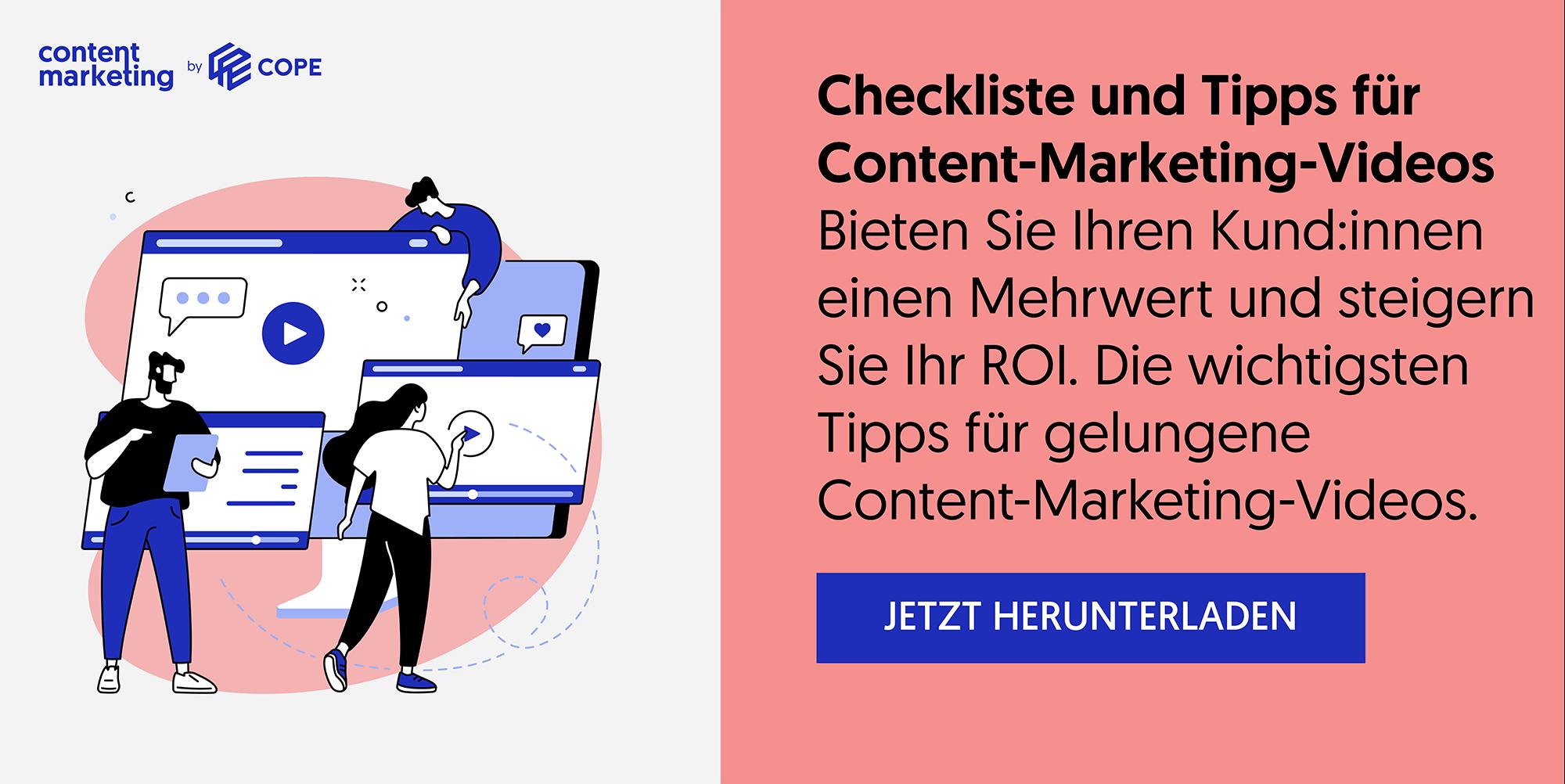 Checkliste und Tipps für Content-Marketing-Videos