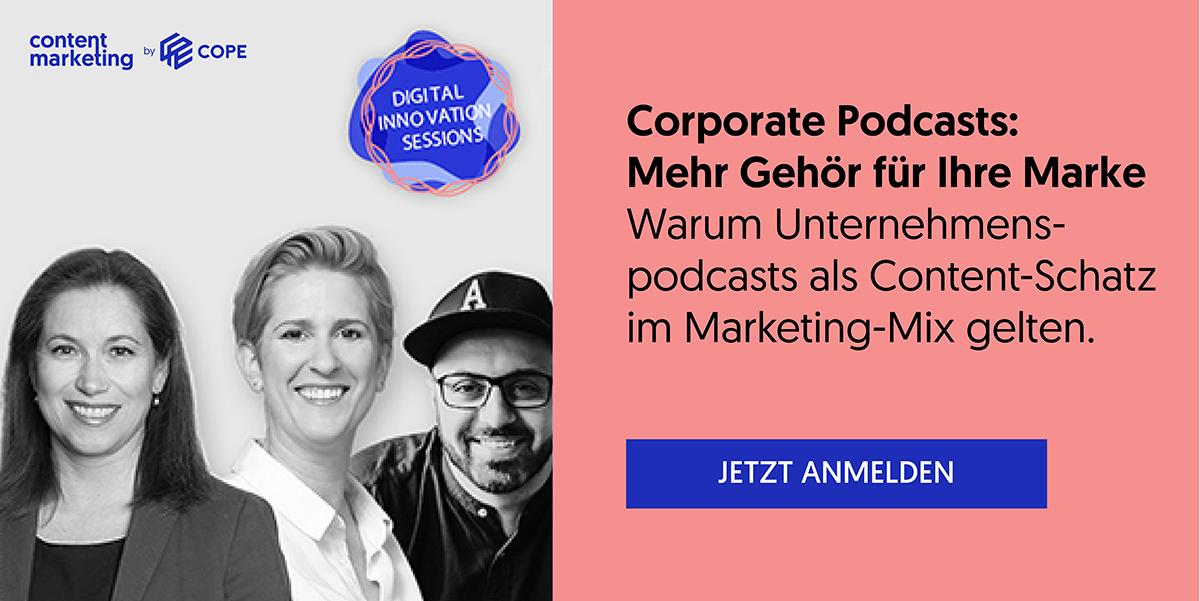 DIS Anmeldung: Corporate Podcast: Mehr Gehör für Ihre Marke