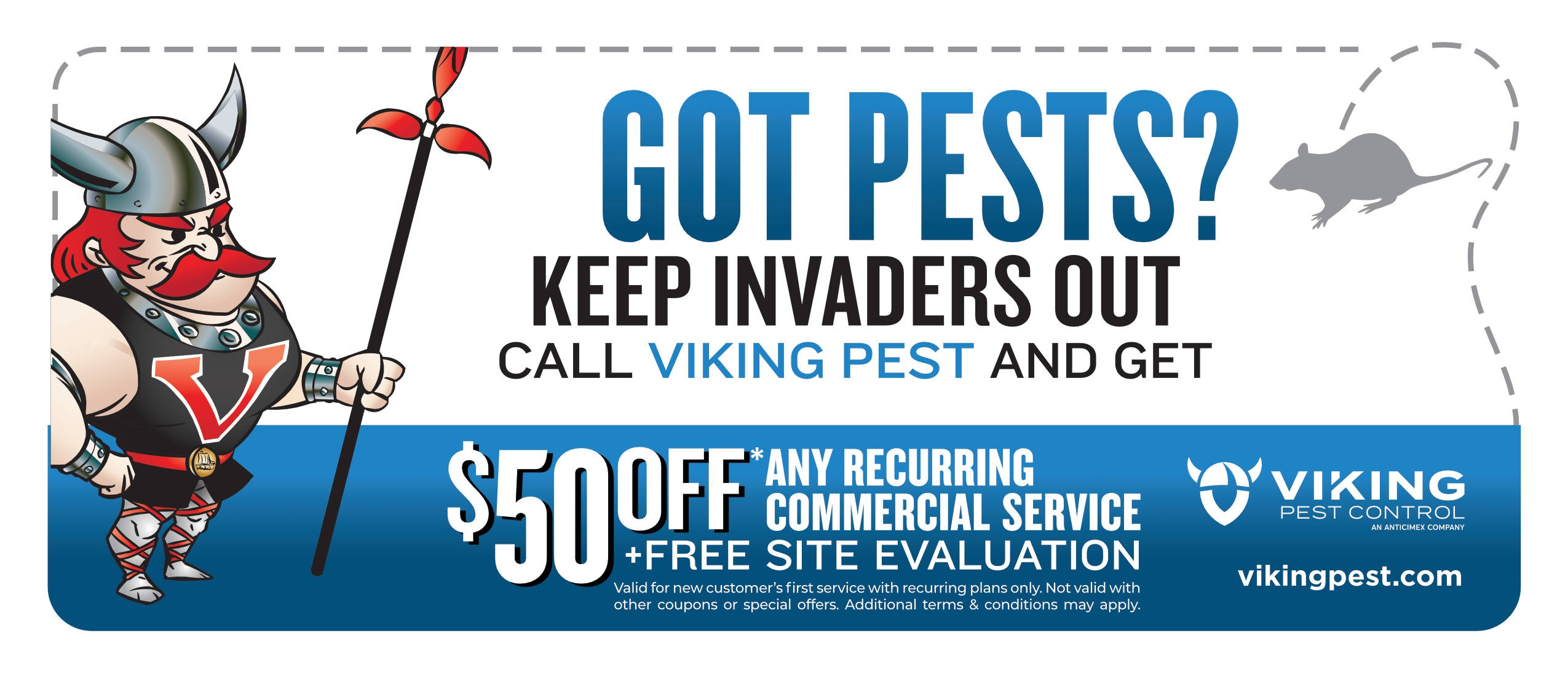 Save $50 on Commercial Pest Control Services